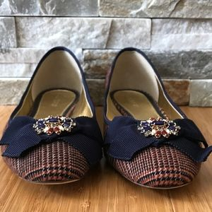 J. Crew Jewel Toe Navy Blue Slip On Ballet SZ 8